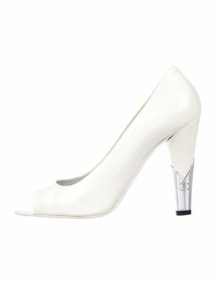 Chanel Patent Leather Pumps White