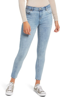 1822 Denim Mid Rise Organic Cotton Blend Ankle Skinny Jeans