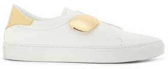 Rupert Sanderson Dynamo Slip-on Leather Trainers - Womens - White Gold