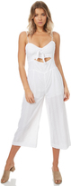 MinkPink Blessings Tie Front Jumpsuit White