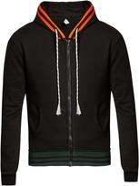 Raf Simons Contrast-trim zip-up sweatshirt