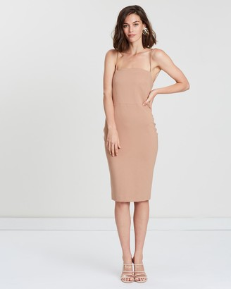 Friend Of Audrey Ellie Open Back Midi Dress