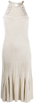 Roberto Cavalli Ribbed Knitted Dress