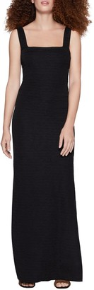 BCBGeneration Square Neck Slim Maxi Knit Dress
