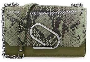 3.1 Phillip Lim Alix Python-Embossed Leather Clutch