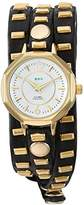 La Mer Women's Quartz Metal and Leather Casual Watch, Color:Black (Model: LMSW9050)