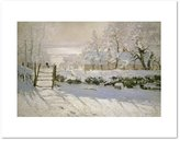 1000Museums The Magpie by Claude Monet, 1869. Art Print