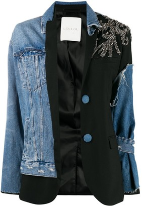 Loulou Denim Embellished Jacket