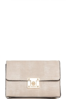 Quiz Beige Chain Lock Bag