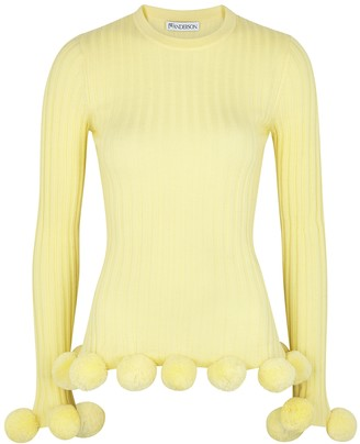 J.W.Anderson Yellow Pompom-embellished Wool Jumper
