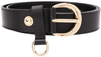 Versace studded buckled belt