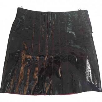 Alberta Ferretti Burgundy Patent leather Skirt for Women