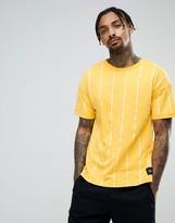 Sixth June Oversized T-shirt In Mustard Stripe