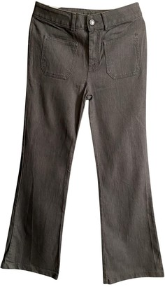 Gerard Darel Grey Cotton Jeans for Women
