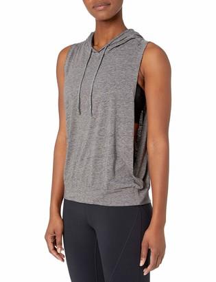 Core 10 Amazon Brand Women's Tri-Blend Workout Tank Hoodie