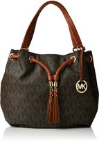 Michael Kors Women's Large Jeet Set Gathered Leather Top-Handle Tote