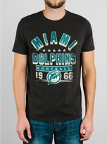 Junk Food Clothing Nfl Miami Dolphins Tee-black Wash-m