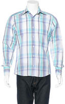 Gucci Linen-Blend Plaid Shirt