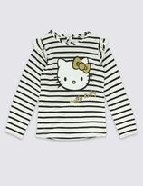 Marks and Spencer Pure Cotton Hello Kitty Jersey Top (1-7 Years)