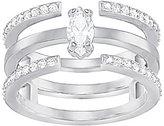 Swarovski Gray Pave Stacked Ring