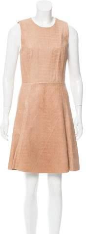 Cushnie et Ochs Embossed Leather Dress
