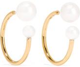 Sophie Bille Brahe Petite Boucle Kelly 14-karat Gold Pearl Earrings - one size