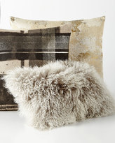 "Aviva Stanoff Mongolian Pillow, 20"" x 12"""