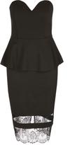 City Chic Plunge Peplum Dress