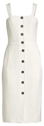 Donna Karan Double Weave Button-Front Sheath Dress