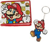 Nintendo Official Super Mario Bros. Coins and Flower Wallet and Keyring Gift Set - Boxed
