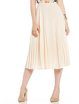 1 STATE Pleated Midi Skirt