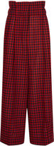 Sonia Rykiel Red & Navy Gingham Paperbag Trousers