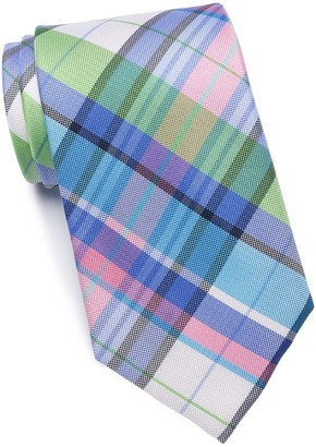 Tommy Hilfiger Oak Plaid Silk Tie