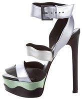 Ruthie Davis Metallic-Accented Platform Sandals w/ Tags