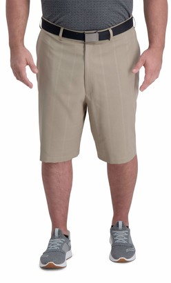 Haggar Men's Big and Tall Active Series Engineered Ventilation Classic Fit Super Flex Waist Short