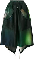 Kenzo military skirt with tie details