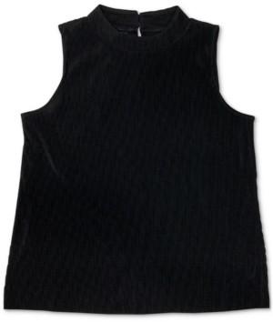 Alfani Textured Keyhole-Back Sleeveless Top, Created for Macy's