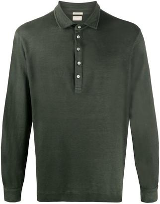 Massimo Alba Linen Long Sleeve Polo Shirt