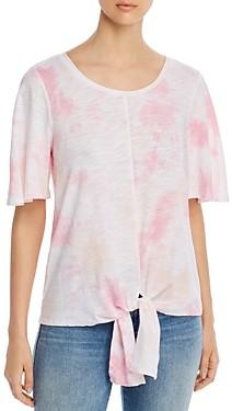 Cupio Tie-Dyed Tie-Front T-Shirt