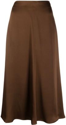 Semi-Couture Flared Midi Skirt