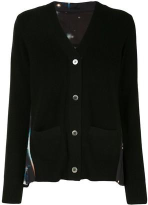 Sacai Contrast Button-Down Cardigan