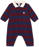 Petit Bateau Baby boys striped all-in-one