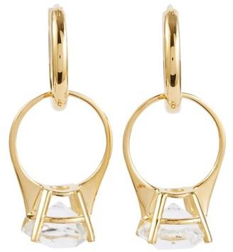 Burberry Brass ring earrings