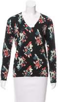 Carven Wool Floral Sweatshirt