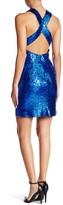 Minuet Sequin Cross Back Dress