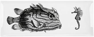 Fornasetti Incontro Rectangular Tray - Black/White