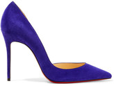 Christian Louboutin Iriza 100 Suede Pumps - Purple
