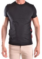 Galliano Men's Black Cotton T-shirt.