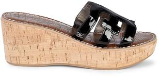 Sam Edelman Regis Patent Cork Wedge Sandals