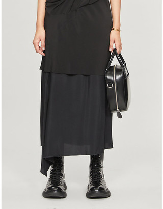 Y's Ys Asymmetric A-line rayon skirt